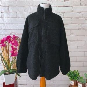 Vero Moda Black Faux Fur Jacket Women's NWT